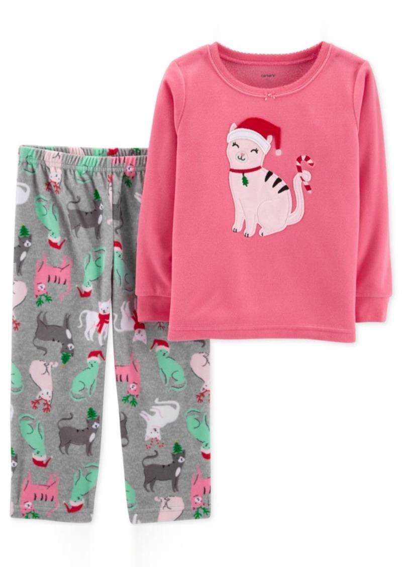 c63b21893d13 Carter s Carter s Toddler Girls 2-Pc. Fleece Cat Pajamas Set