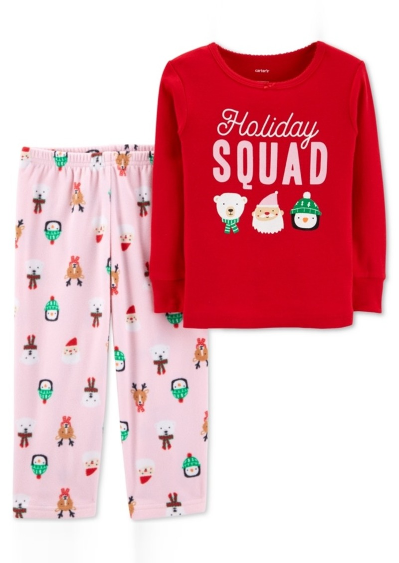 706a1ef47 Carter s Carter s Toddler Girls 2-Pc. Holiday Squad Pajama Set