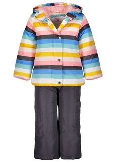 Carter's Little Girls 2-Pc. Striped Jacket & Bib Snow Suit