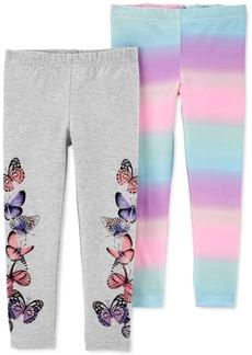 Carter's Toddler Girls 2-Pk. Rainbow Butterfly Leggings