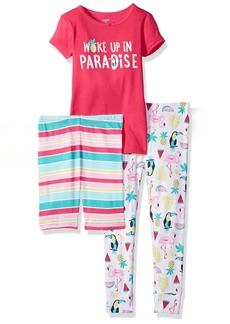 Carter's Girls' Toddler 3-Piece Cotton Pajamas