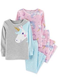 Carter's Toddler Girls 4-Pc. Unicorn Snug-Fit Cotton Pajama Set