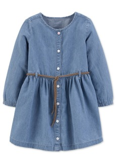 Carter's Toddler Girls Belted Denim Shirtdress