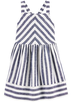 Carter's Toddler Girls Blue Striped Dress
