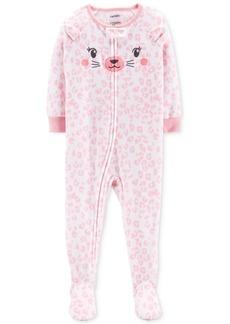 Carter's Toddler Girls Cheetah-Print Footed Pajamas