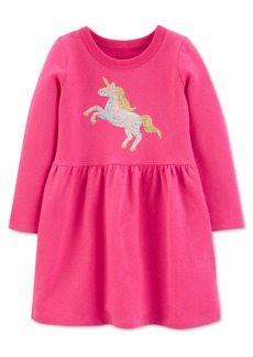 Carter's Toddler Girls Cotton Sequin Unicorn Dress