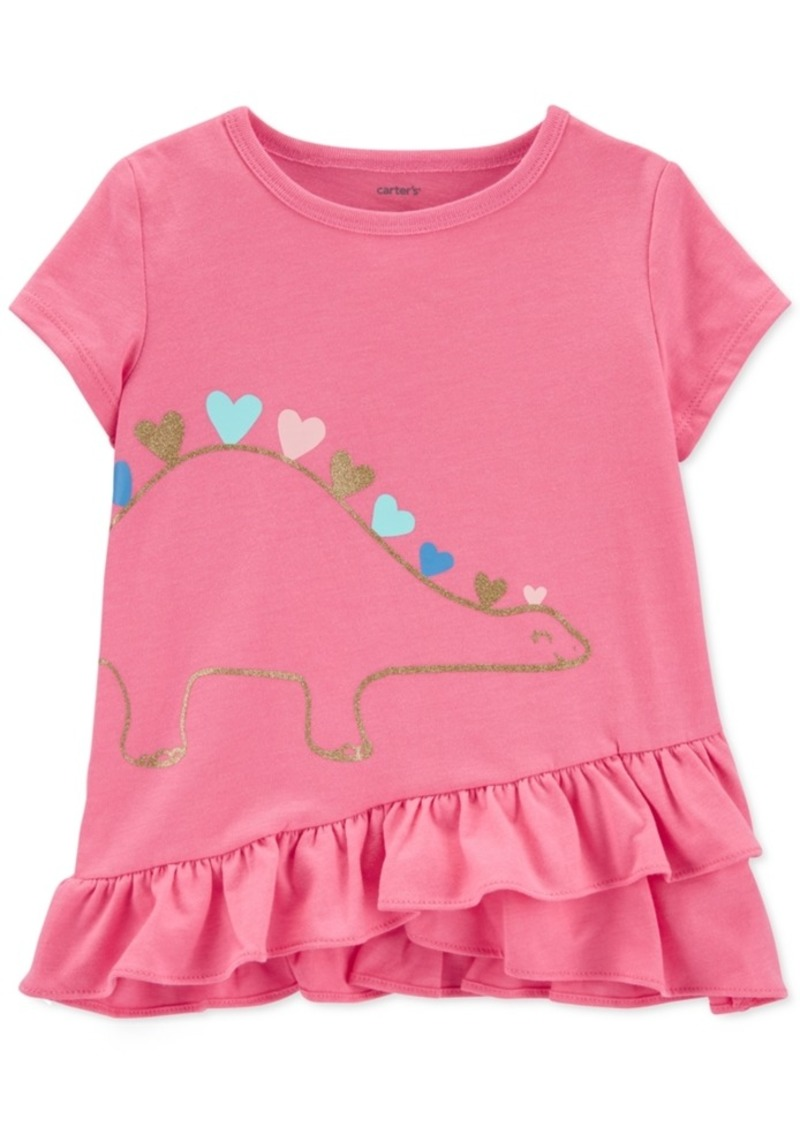 Carter's Toddler Girls Dinosaur Hearts Top
