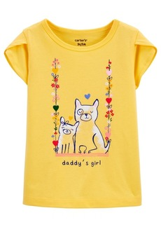 Carter's Toddler Girls Dog Jersey Tee