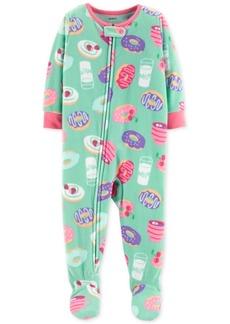 Carter's Toddler Girls Donut-Print Footed Pajamas