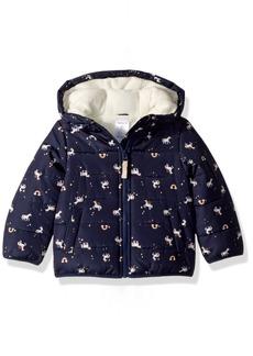 Carter's Toddler Girls' Fleece Lined Puffer Jacket Coat