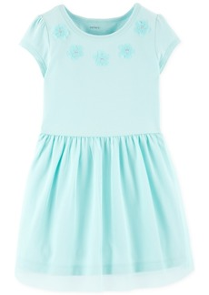 Carter's Toddler Girls Floral Applique Dress
