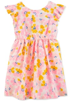 Carter's Toddler Girls Floral-Print Bow-Back Dress