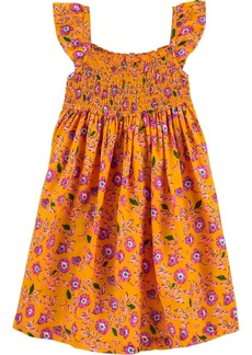 Carter's Toddler Girls Floral-Print Smocked Dress