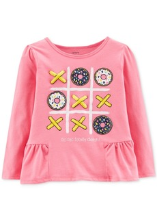 Carter's Toddler Girls Graphic-Print Peplum T-Shirt