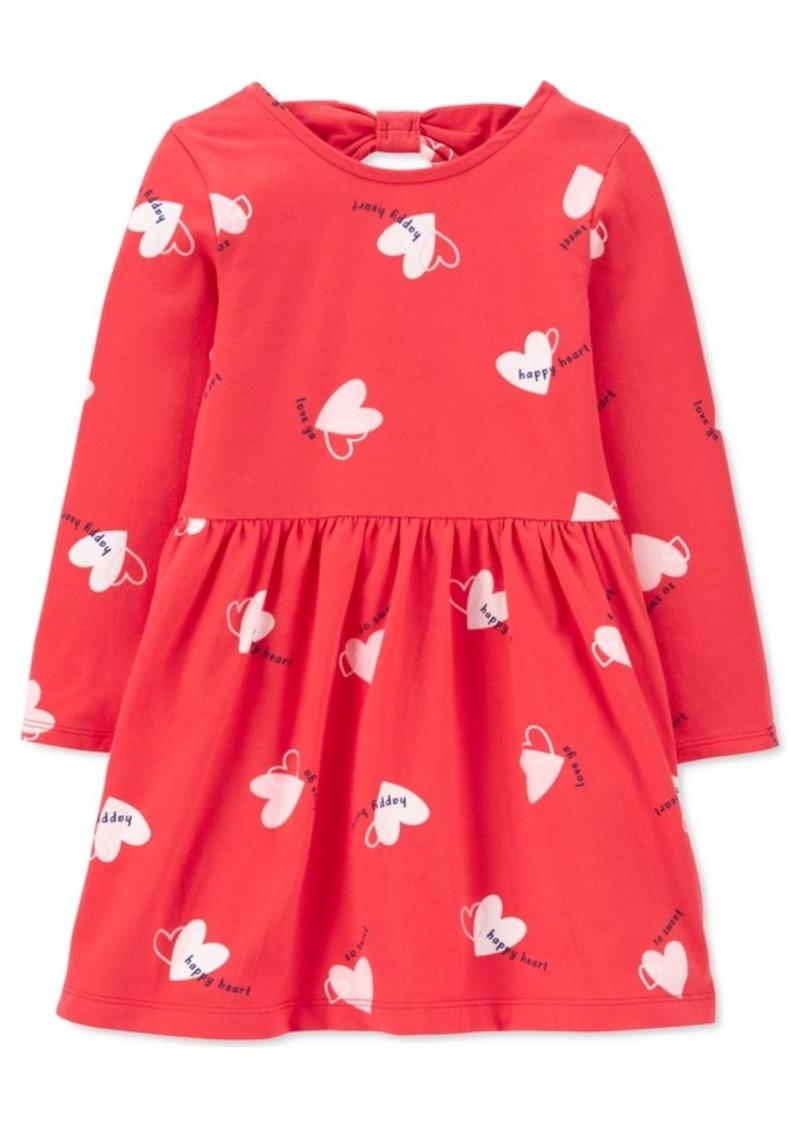 Carter's Toddler Girls Heart-Print Bow-Back Jersey Dress