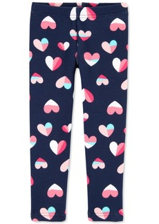 Carter's Toddler Girls Heart-Print Fleece Leggings
