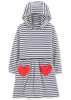 Carter's Toddler Girls Hooded Striped Heart Dress