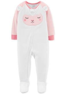 Carter's Toddler Girls Lamb Footed Fleece Pajamas
