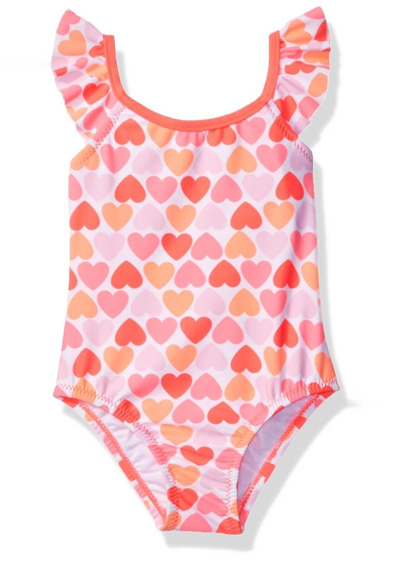 62a591657 Carter's Carter's Toddler Girls' One Piece Ruffle Strap Heart ...