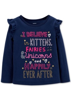 Carter's Toddler Girls Slogan Graphic-Print T-Shirt
