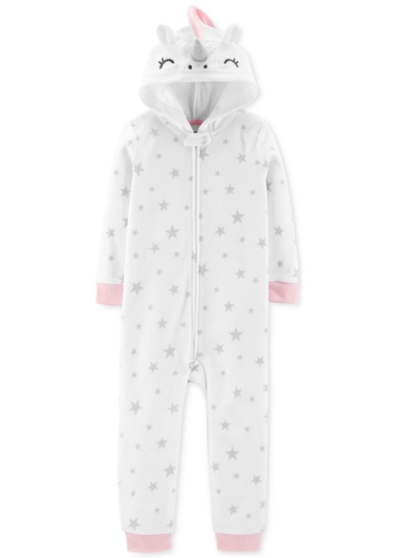 ee2619e63 Carter s Carter s Toddler Girls Unicorn Fleece Footless Pajamas ...