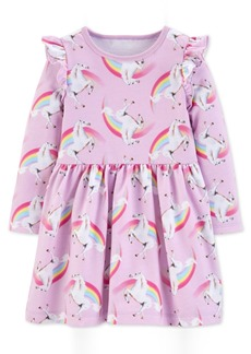 Carter's Toddler Girls Unicorn-Print Cotton Dress