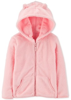 Carter's Toddler Girls Velboa Faux-Fur Zip-Up Hoodie