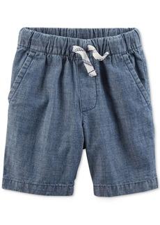 Carter's Little Boys Woven Cotton Chambray Shorts