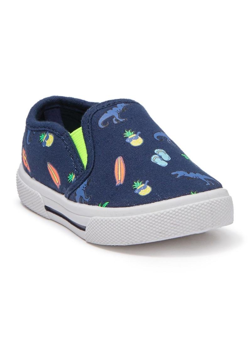 Carter's Damon Shark Beach Print Slip-On Sneaker (Toddler)