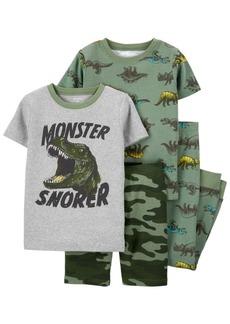 Carter's Little Boys Dinosaur Snug Fit Pajama, 4 Piece Set