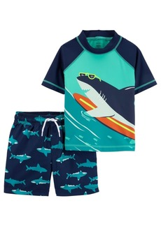 Carter's Toddler Boys Shark Rashguard Set, 2 Piece