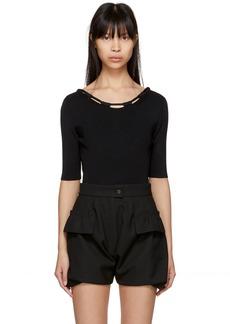 Carven Black Basic Knit Bodysuit
