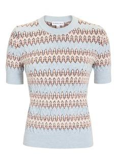 Carven Blue Multi Sweater