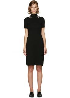 Carven Black Jewelled Collar Dress