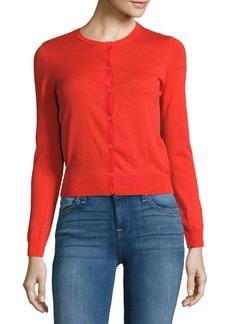Carven Button-Front Cotton Jacket