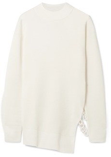 Carven Chain-embellished wool-blend sweater