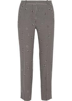 Carven Checked Crepe Slim-leg Pants