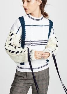 Carven Corset Sleeve Sweaters