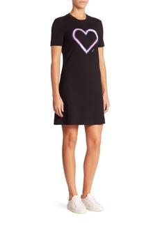 Carven Cotton Heart Graphic T-Shirt Dress