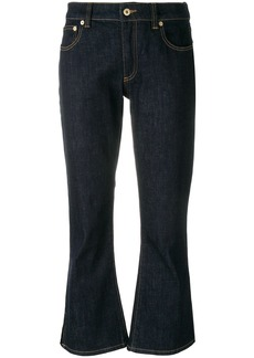 Carven cropped flare jeans - Blue