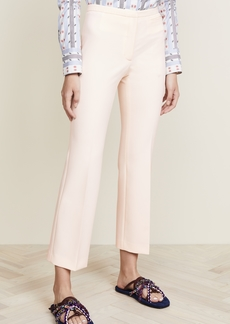 Carven Cropped Stretch Crepe Flared Trousers
