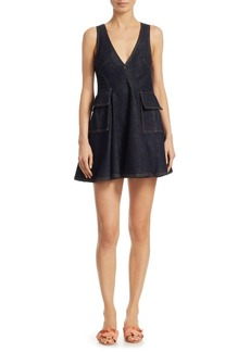 Carven Denim Mini Dress
