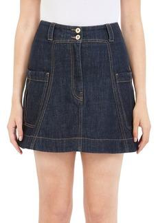 Carven Denim Mini Skirt