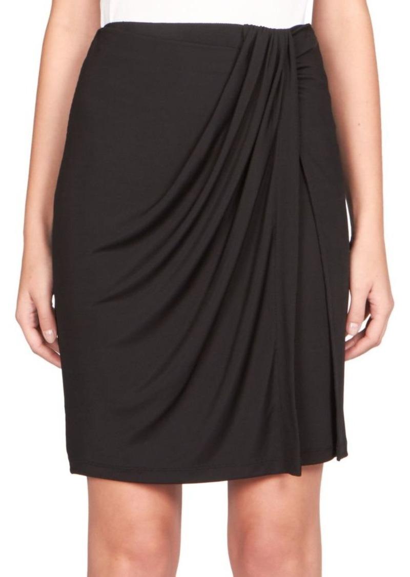 Carven Draped Jersey Skirt