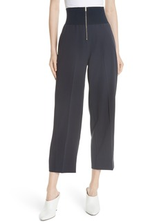 Carven Exposed Zip Wide Leg Pants