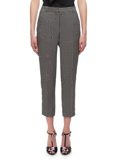 Carven Gingham Cigarette Pants