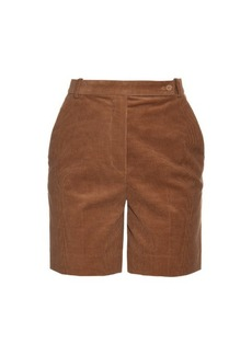 Carven High-waisted corduroy shorts