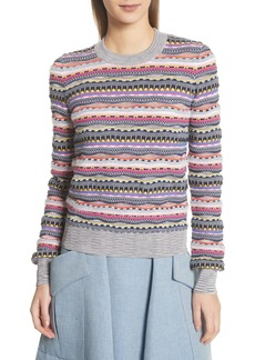 Carven Knit Cotton Blend Sweater