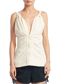 Carven Lace-Up Top