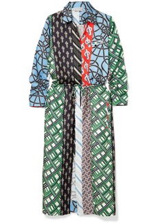Carven Layered printed silk-twill dress